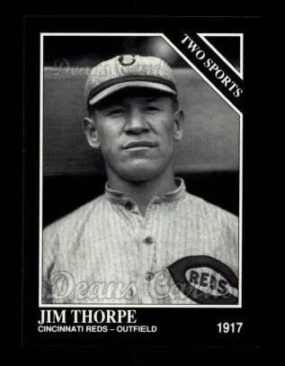 1992 Conlon #403   -  Jim Thorpe Two Sports