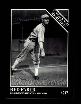 1992 Conlon #483   -  Red Faber 1917 Highlights