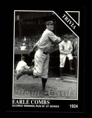 1992 Conlon #583   -  Earle Combs Trivia