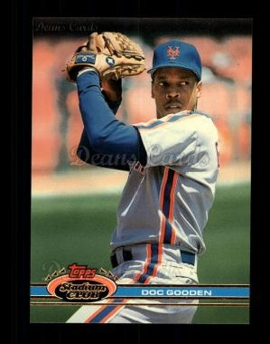 1991 Topps Stadium Club #100  Dwight Gooden