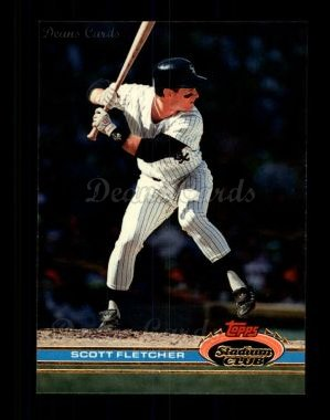 1991 Topps Stadium Club #30  Scott Fletcher
