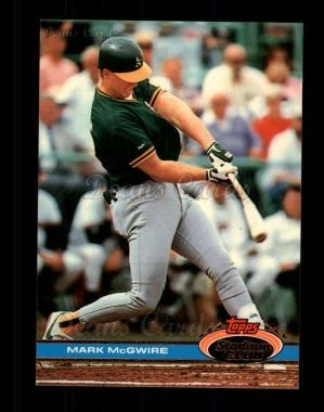 1991 Topps Stadium Club #399  Mark McGwire