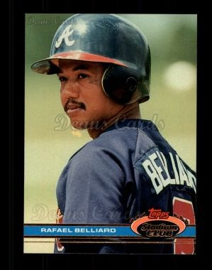 1991 Topps Stadium Club #404  Rafael Belliard