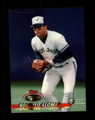 1993 Topps Stadium Club #596   -  Roberto Alomar Members Choice