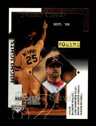 1999 Upper Deck #527   -  Mark McGwire Season Highlights