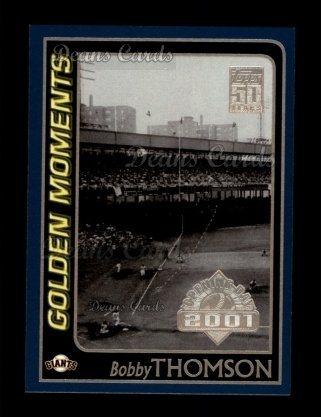 2001 Topps Opening Day #156   -  Bobby Thomson Golden Moments