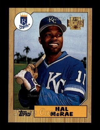 2001 Topps Archives #174   -  Hal McRae 87 Topps
