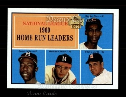 2001 Topps Archives #432   -  Eddie Mathews 1960 Topps NL HR Leaders