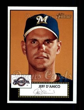 2001 Topps Heritage #272  Jeff D'Amico