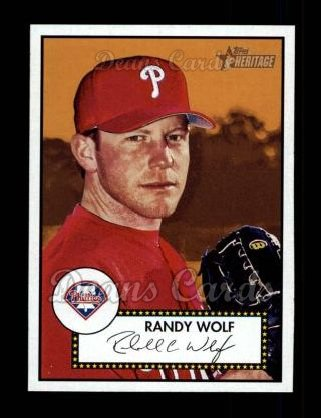 2001 Topps Heritage #28 RED Randy Wolf