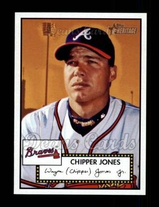 2001 Topps Heritage #52 BLK Chipper Jones