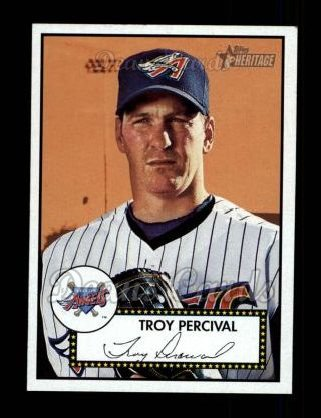 2001 Topps Heritage #71 BLK Troy Percival