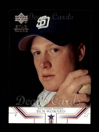 2002 Upper Deck #532   -  Ben Howard Star Rookie