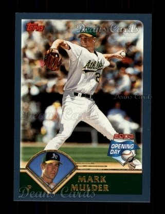 2003 Topps Opening Day #103  Mark Mulder