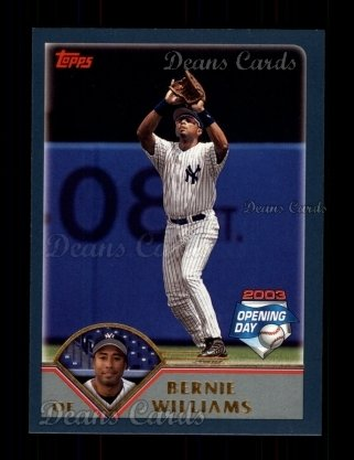 2003 Topps Opening Day #105  Bernie Williams