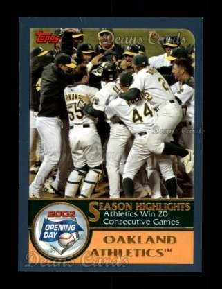 2003 Topps Opening Day #162   Athletics Team