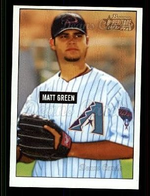 2005 Bowman Heritage #344 DP  -  Matt Green First Year Draft Pick