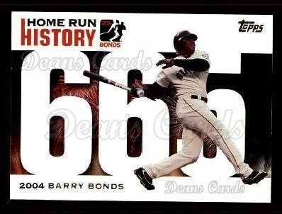 2005 Topps Barry Bonds HR History #665   -  Barry Bonds Home Run 665