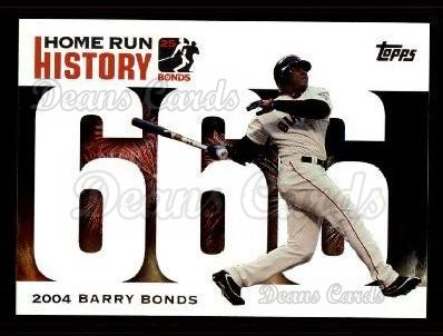 2005 Topps Barry Bonds HR History #666   -  Barry Bonds Home Run 666