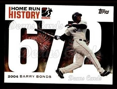 2005 Topps Barry Bonds HR History #672   -  Barry Bonds Home Run 672