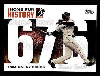 2005 Topps Barry Bonds HR History #676   -  Barry Bonds Home Run 676