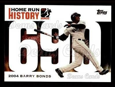 2005 Topps Barry Bonds HR History #690   -  Barry Bonds Home Run 690