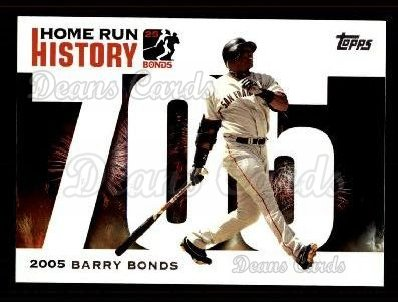 2005 Topps Barry Bonds HR History #705   -  Barry Bonds Home Run 705