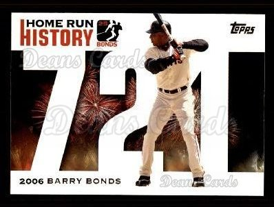 2005 Topps Barry Bonds HR History #721   -  Barry Bonds Home Run 721