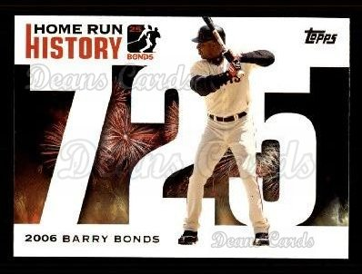 2005 Topps Barry Bonds HR History #725   -  Barry Bonds Home Run 725