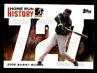 2005 Topps Barry Bonds HR History #727   -  Barry Bonds Home Run 727