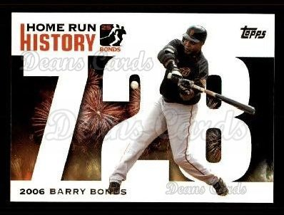 2005 Topps Barry Bonds HR History #728   -  Barry Bonds Home Run 728