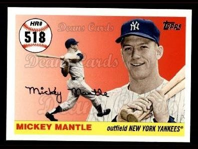 2006 Topps Mantle HR History #518   -  Mickey Mantle Home Run 518