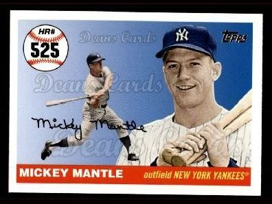 2006 Topps Mantle HR History #525   -  Mickey Mantle Home Run 525