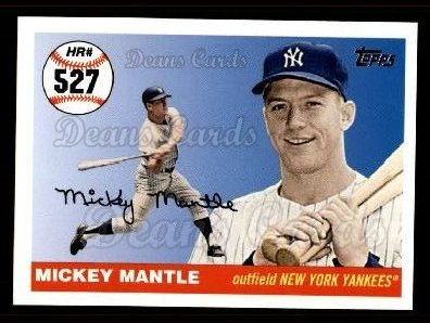 2006 Topps Mantle HR History #527   -  Mickey Mantle Home Run 527