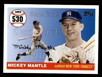 2006 Topps Mantle HR History #530   -  Mickey Mantle Home Run 530