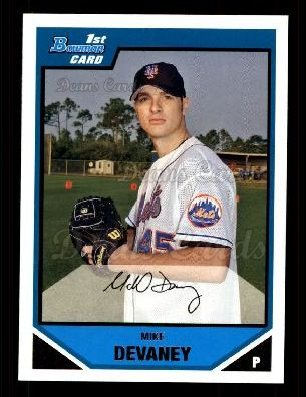 2007 Bowman Prospect #40 BP Mike Devaney
