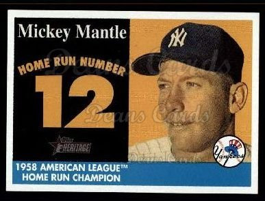 2007 Topps Heritage Mickey Mantle HR Set #12 MMHRC  -  Mickey Mantle Home Run 12