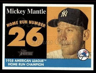 2007 Topps Heritage Mickey Mantle HR Set #26 MMHRC  -  Mickey Mantle Home Run 26