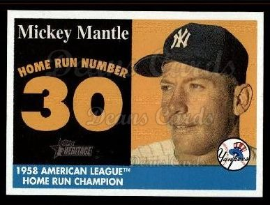 2007 Topps Heritage Mickey Mantle HR Set #30 MMHRC  -  Mickey Mantle Home Run 30