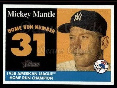 2007 Topps Heritage Mickey Mantle HR Set #31 MMHRC  -  Mickey Mantle Home Run 31