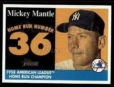 2007 Topps Heritage Mickey Mantle HR Set #36 MMHRC  -  Mickey Mantle Home Run 36