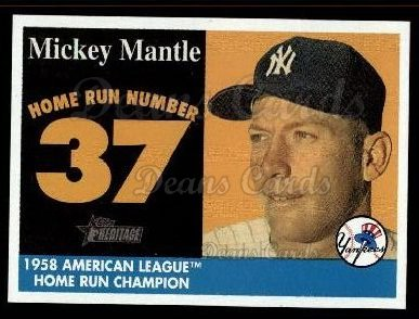 2007 Topps Heritage Mickey Mantle HR Set #37 MMHRC  -  Mickey Mantle Home Run 37