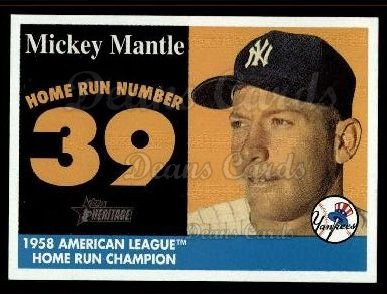 2007 Topps Heritage Mickey Mantle HR Set #39 MMHRC  -  Mickey Mantle Home Run 39