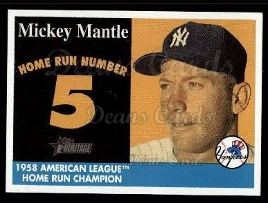 2007 Topps Heritage Mickey Mantle HR Set #5 MMHRC  -  Mickey Mantle Home Run 5