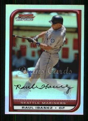 2008 Bowman Chrome Refractor #109  Raul Ibanez