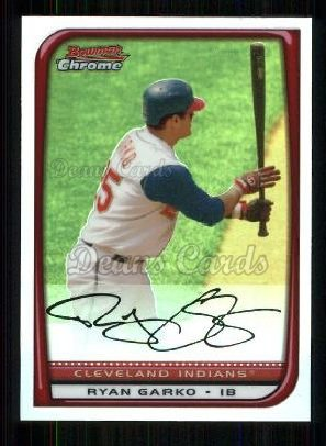 2008 Bowman Chrome Refractor #166  Ryan Garko