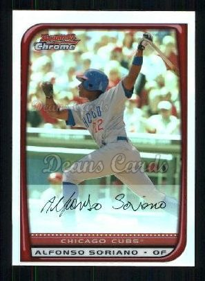 2008 Bowman Chrome Refractor #72  Alfonso Soriano
