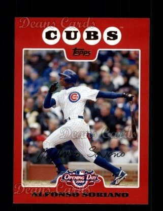 2008 Topps Opening Day #65  Alfonso Soriano