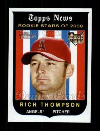 2008 Topps Heritage #142  Rich Thompson