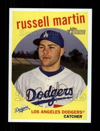 2008 Topps Heritage #199  Russell Martin